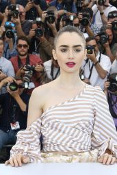 "Lily Collins - ""Okja"" Photocall at 70th Cannes Film Festival 05/19/2017"