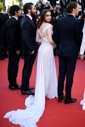 "Lily Collins on Red Carpet – ""Okja"" premiere at Cannes Film Festival 05/19/2017"