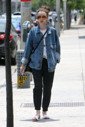 Lily Collins - Running Errands in West Hollywood 05/29/2017