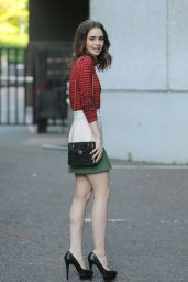 Lily Collins Style and Fashion Inspirations - Outside ITV Studios in London 05/25/2017