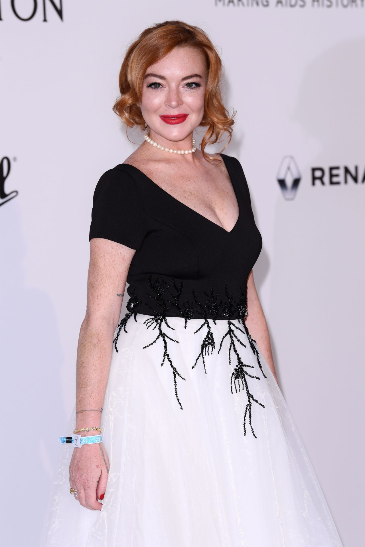 Lindsay Lohan at AmfAR's 24th Cinema Against AIDS Gala ... Lindsay Lohan