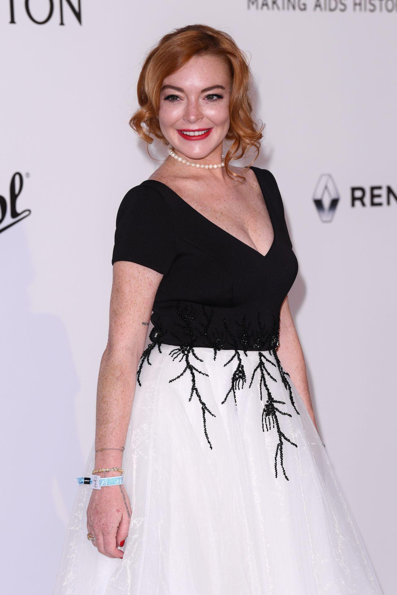 Lindsay Lohan at AmfAR...