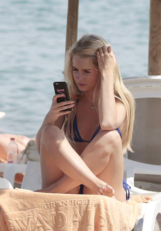 Lottie Moss in a Bikini on oliday in Marbella 05/28/2017