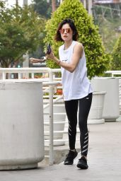 Lucy Hale at Starbucks in Studio City, CA 05/30/2017