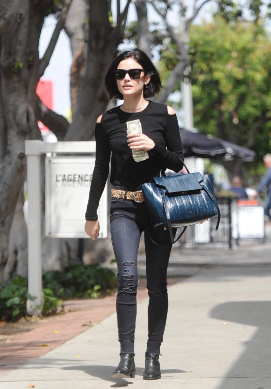 Lucy Hale Outfit Ideas - Shopping on Melrose Place, CA 05/09/2017