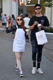 Madelaine Petsch - Enjoys an Ice Cream at the Grove in Hollwyood 05/29/2017