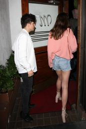 Maia Mitchell Night Out Style - Arriving at Madeo Restaurant in Hollywood 05/14/2017