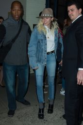 Miley Cyrus Arriving to New York City 05/15/2017