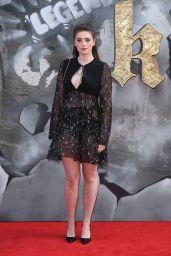 """Millie Brady - """"King Arthur: Legend of the Sword"""" Premiere in London 05/10/2017"""