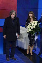 Monica Bellucci and Emir Kustrurica Appeared on Italian Talk Show in Milan 05/07/2017