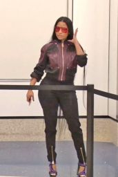 Nicki Minaj in Travel Outfit - LAX Airport in Los Angeles 05/23/2017