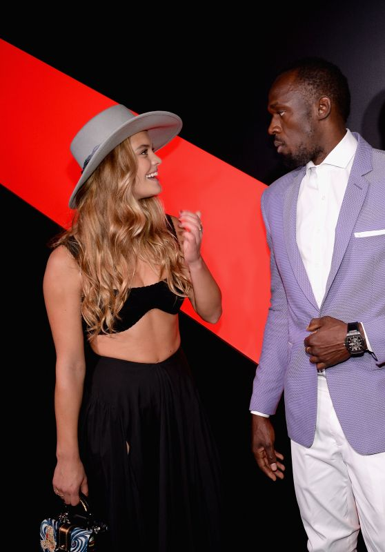 Nina Agdal - G.H. Mumm and Usain Bolt