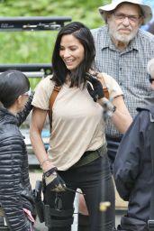 "Olivia Munn - ""The Predator"" Set in Vancouver 05/10/2017"