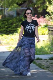 Olivia Wilde - Out For a Walk in Brooklyn 05/18/2017