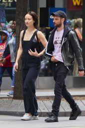 Olivia Wilde Street Stzle - Talking With Tom Sturridge in New York 05/27/2017