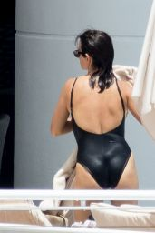 Penelope Cruz in a Black Swimsuit - Miami, FL 05/19/2017