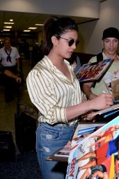 Priyanka Chopra in Jeans at Miami International Airport 05/11/2017