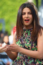 Priyanka Chopra in Mini Dress - Extra Studios in Hollywood 05/24/2017