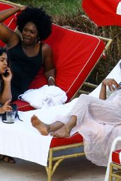 Priyanka Chopra Shows Off Her Bikini Body - Hotel Pool in Miami 05/12/2017