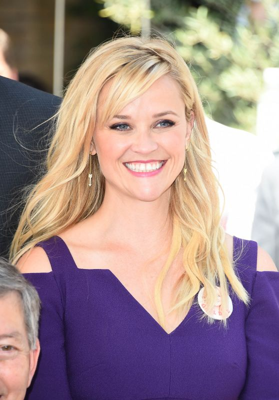 Reese Witherspoon at Goldie Hawn and Kurt Russell's Walk of Fame Ceremony in Hollywood 05/04/2017