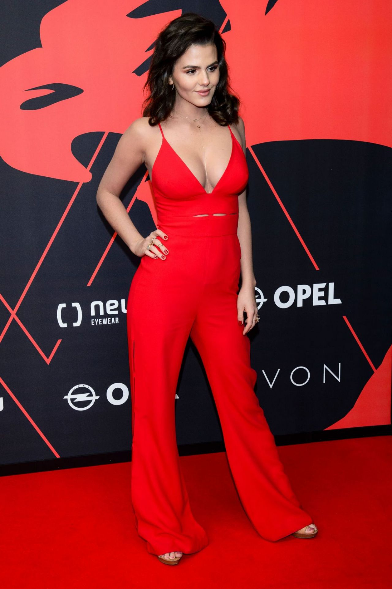 Ruby O Fee In A Tight Red Suit - New Faces Film Award 2017 In Berlin-8900