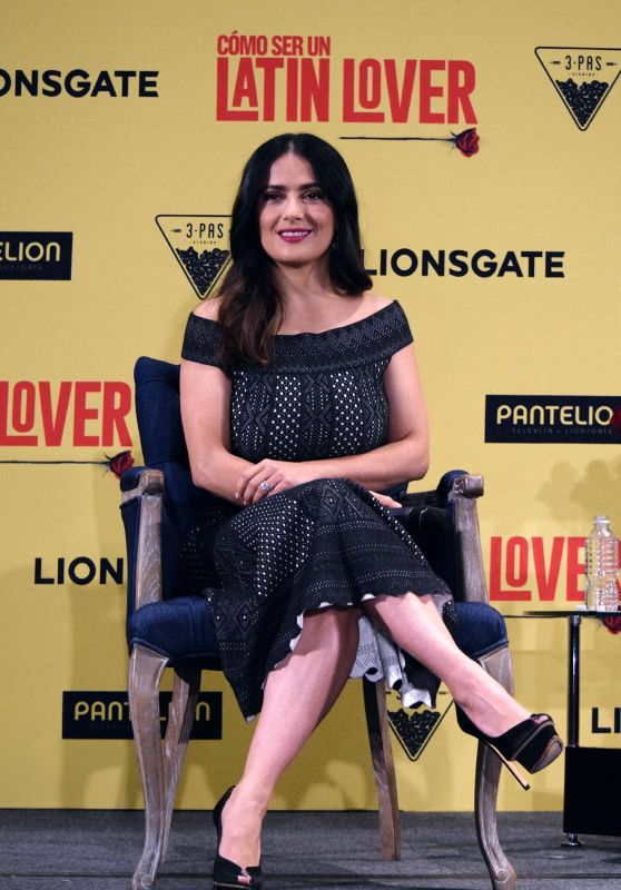 """Salma Hayek - """"How To Be a Latin Lover"""" Press Conference in Mexico City 05/03/2017"""