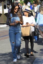 Shay Mitchell With Her Mother - Shopping at The Grove in Hollywood 05/15/2017