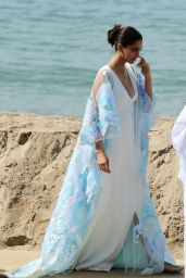 Sonam Kapoor on the Beach in Cannes, France, May 2017
