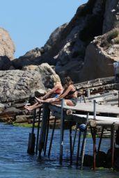 "Sophie Porley & Amanda Clapham - ""Hollyoaks"" TV Show Filming in Ibiza 05/12/2017"