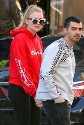 Sophie Turner - Leaves a Restaurant With Joe Jonas in the East Village in NYC 05/08/2017