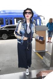 Susan Sarandon Travel Outfit - LAX Airport in Los Angeles 05/10/2017