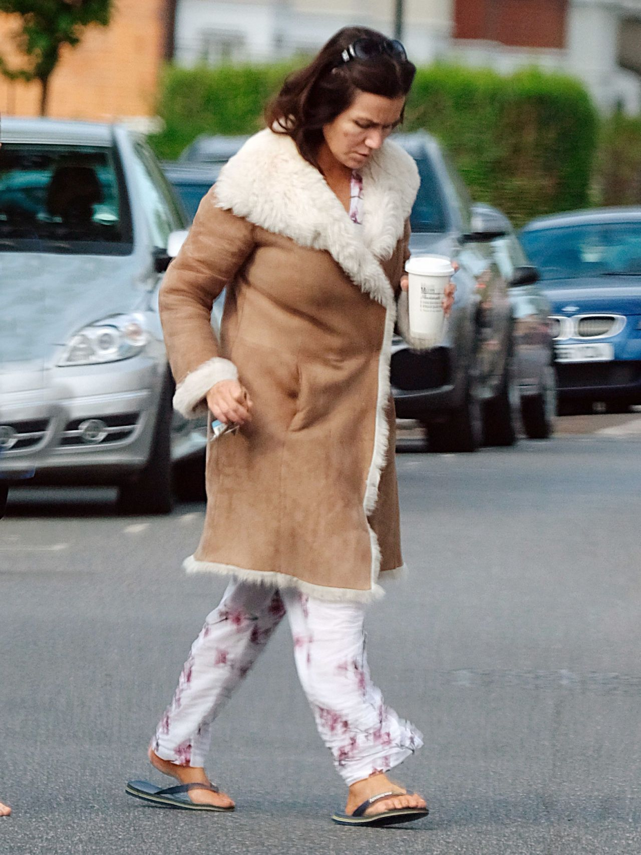 Susanna reid in her pyjamas out in london