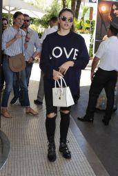 Thylane Blondeau - Outside Hotel Martinez in Cannes 05/17/2017