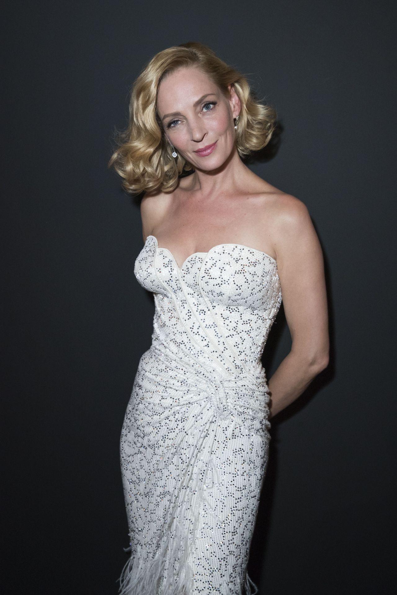 Uma Thurman At Kering Women In Motion Awards Cannes Film