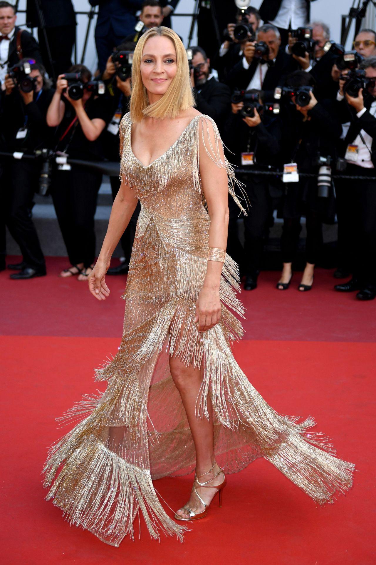 Uma Thurman Cannes Film Festival Closing Ceremony 05 28 2017