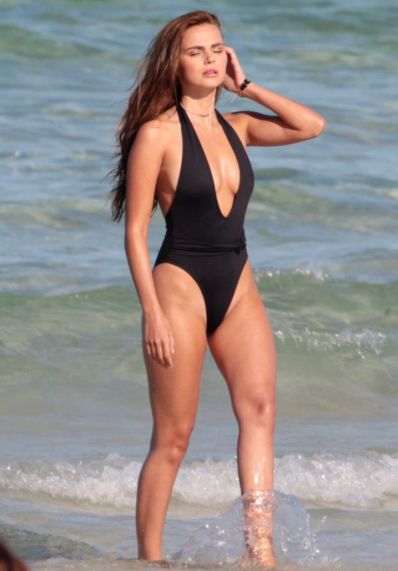 Xenia Deli in a Swimsuit at Miami Beach 05/10/2017
