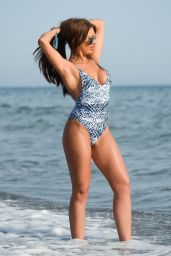 Abbie Holborn in Swimsuit - Holiday in Marbella 06/26/2017