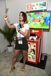 Adelaide Kane - Nintendo Booth at the E3 Gaming Convention in LA 06/13/2017