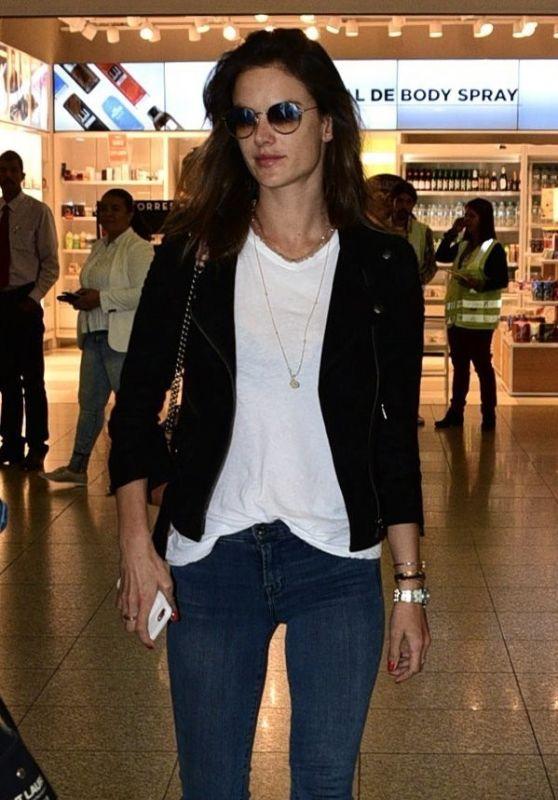 Alessandra Ambrosio - Airport in Sao Paulo, Brasil 06/27/2017