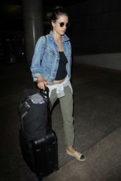 Alessandra Ambrosio at the LAX Airport in Los Angeles 06/09/2017