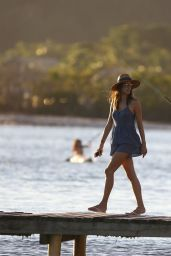 Alessandra Ambrosio Fishing - Florianópolis, Brazil 06/25/2017