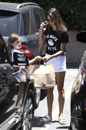 Alessandra Ambrosio With Her Daughter Anja - Brentwood Country Mart 06/15/2017