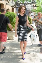 Alison Brie Looks Stylish - Leaving Her Hotel in New York City 06/19/2017