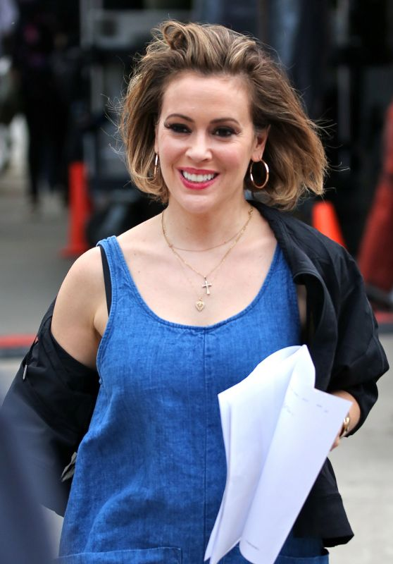 "Alyssa Milano - ""Little Italy"" Set in Toronto, Canada 06/12/2017"