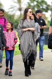 Angelina Jolie - Disneyland Park in California 06/25/2017
