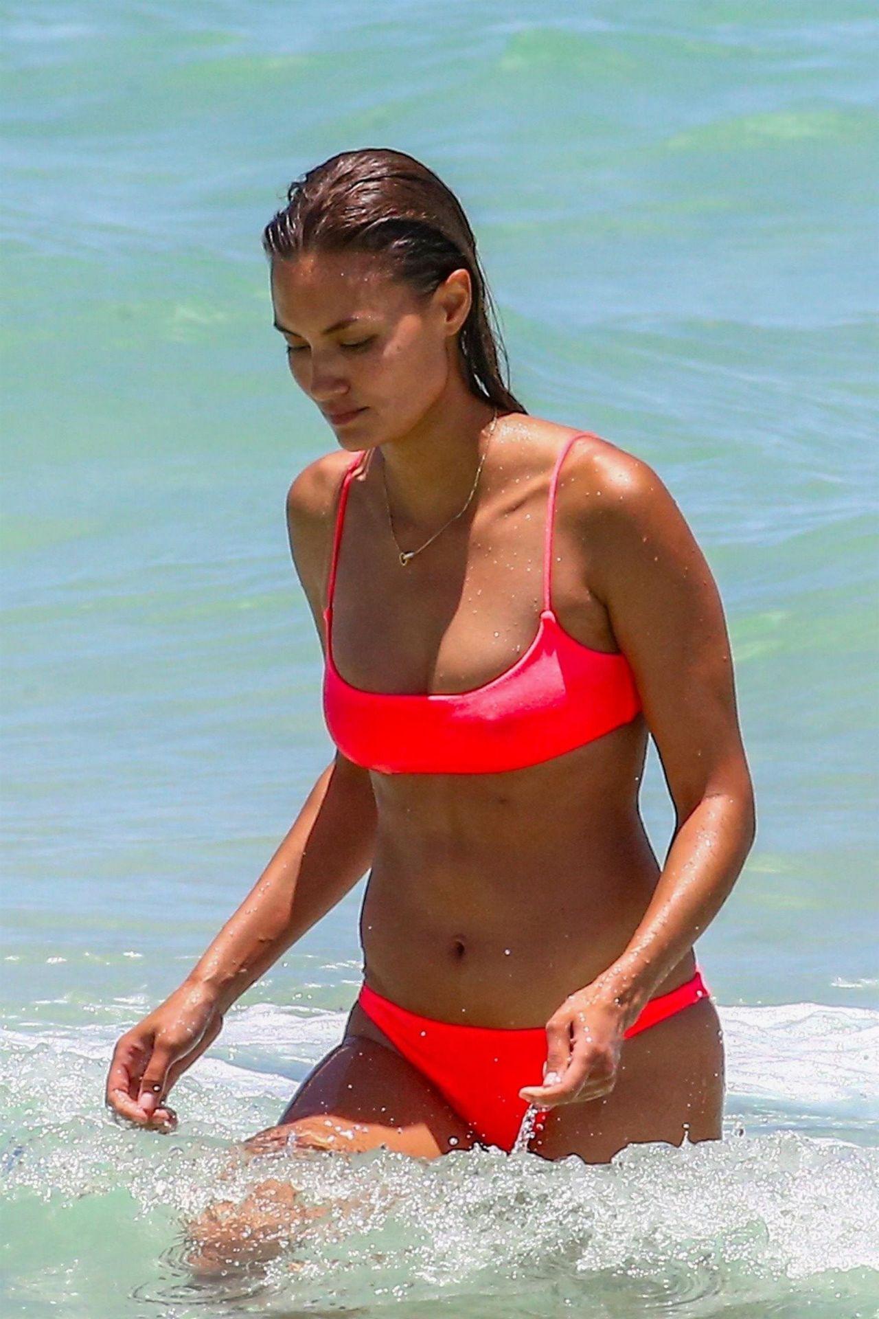 b303d6552d Anne Marie Kortright in a Pink Bikini at Miami Beach 06 25