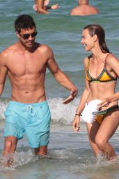 Anne Marie Kortright in Bikini on the Beach With Friends in Miami 06/25/2017