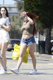 Ariel Winter in Jeans Shorts - Shopping at Planet Blue in Beverly Hills 06/20/2017