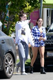 Ariel Winter in Shorts and Plaid Shirt - LA 06/12/2017