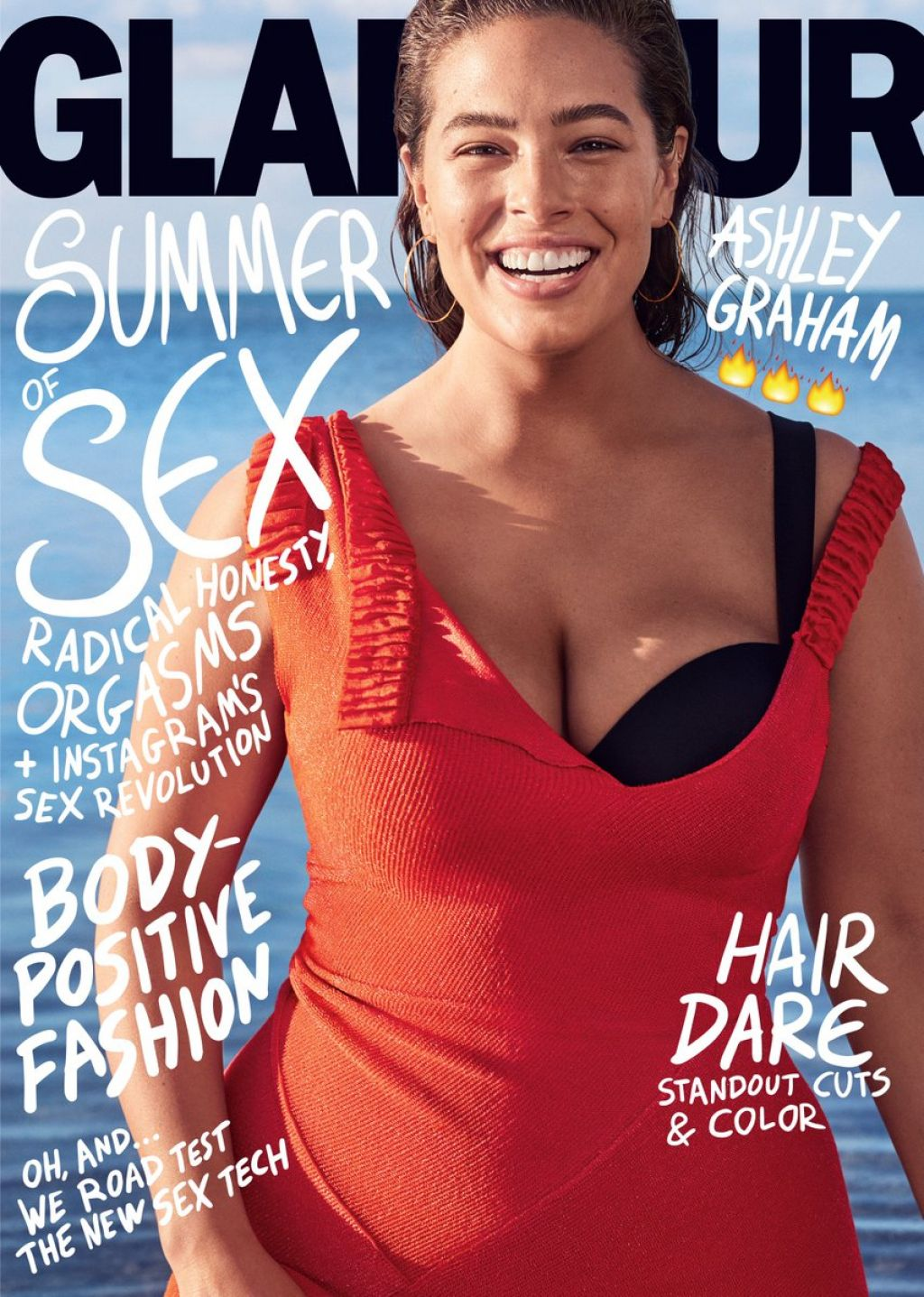 ashley graham glamour magazine july 2017 cover and pics. Black Bedroom Furniture Sets. Home Design Ideas